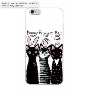 NEW iPhone X/ XS Princess Kitty Cat Case
